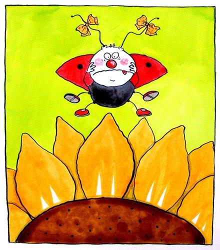 kinderzimmer - Ladybird (w.c & ink on paper) - Christie, Maylee