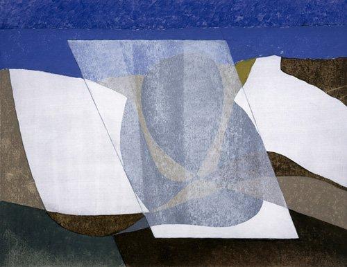 abstrakte-gemaelde - Falcon Cliff, 2001 (oil on board) - Dannatt, George