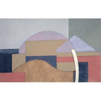 Abstrakte Gemälde - Farm End, 2002 (oil on board) - Dannatt, George