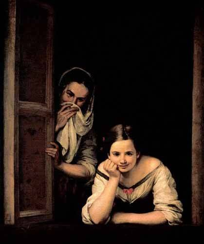 portraetgemaelde - Gallegas en la ventana - Murillo, Bartolome Esteban