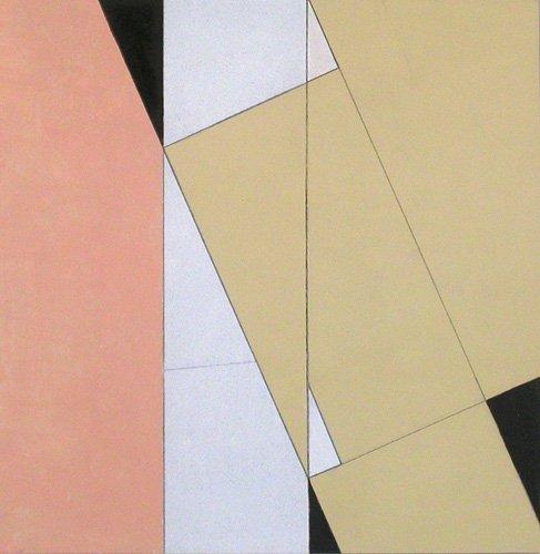 abstrakte-gemaelde - Spatial Relationship, No 2, 2003 (oil on paper and board) - Dannatt, George