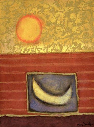 moderne-gemaelde - The Sun Rises While the Moon Sleeps - Davidson, Peter