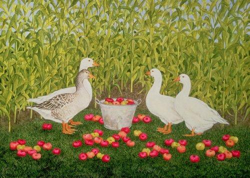 moderne-gemaelde - Sweetcorn-Geese - Ditz