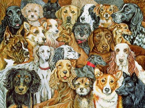 moderne-gemaelde - Dog Spread, 1989 - Ditz