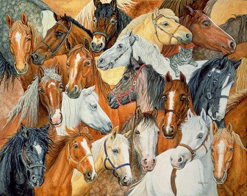 moderne-gemaelde - Dee's Horse-Blanket - Ditz