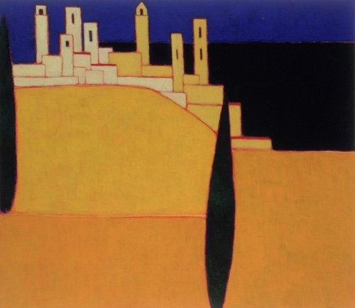 moderne-gemaelde - San Gimignano, Toskana, 2000 - Donne, Eithne