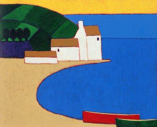 moderne-gemaelde - Bucht in der südlichen Bretagne, 2004 - Donne, Eithne