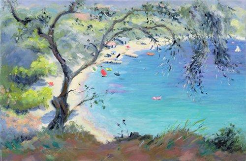 seelandschaft - Lichnos Bay, Epirus, Greece, 1995 - Durham, Anne