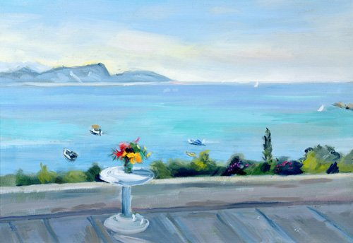 seelandschaft - A terrace looking out to sea - Durham, Anne