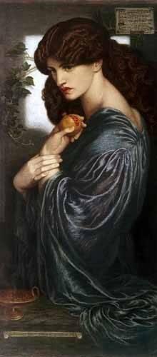 portraetgemaelde - Proserpina - Rossetti, Dante Gabriel