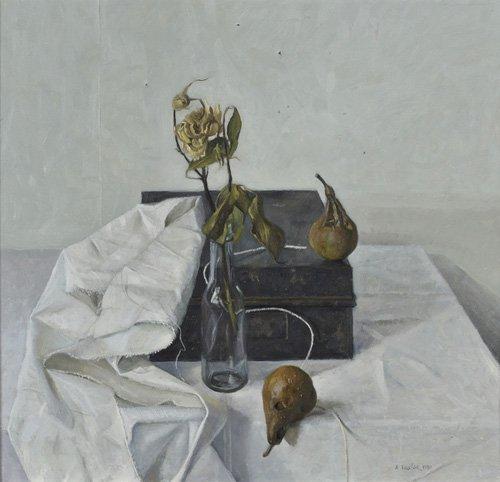 stillleben-gemaelde - The Box and Rotten Pears, 1990 - Easton, Arthur