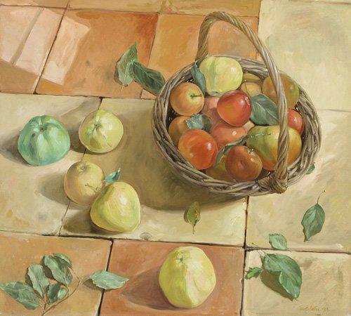stillleben-gemaelde - The Apple Basket - Easton, Timothy