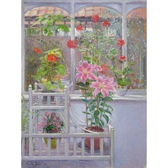 Stillleben Gemälde - Through the Conservatory Window, 1992 - Easton, Timothy