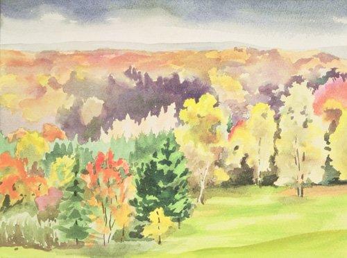landschaften-gemaelde - No.64 Herbst, Beaufays, Lüttich, Belgien - Godlewska de Aranda, Izabella
