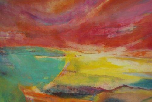 abstrakte-gemaelde - Zwischen Land und Meer, Landschaft, 2016 - Gibbs, Lou