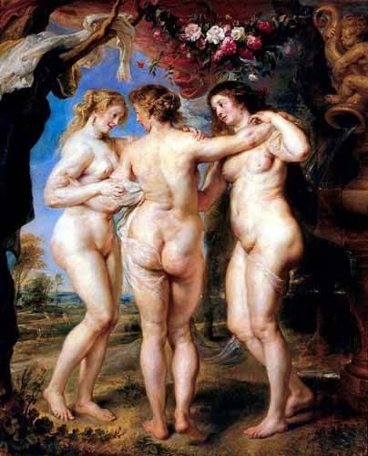 portraetgemaelde - Las tres gracias - Rubens, Peter Paulus