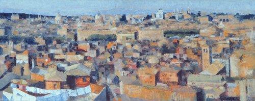 moderne-gemaelde - Rom, Blick von der Spanischen Akademie auf dem Gianicolo, 1968 - Godlewska de Aranda, Izabella