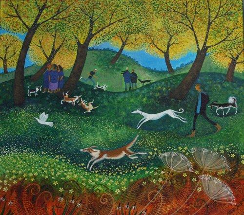 landschaften-gemaelde - Doggie Pals, 2012 - Graa Jensen, Lisa