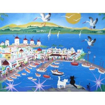 Landschaften Gemälde - Mykonos, Greece, 2012 - Hofer, Herbert