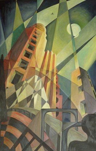 abstrakte-gemaelde - Stadt in Lichtscherben - Hubbard-Ford, Carolyn