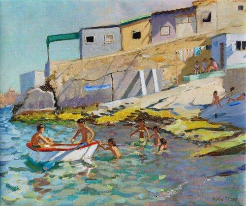 seelandschaft - The rowing boat,Valetta,Malta,2015 - Macara, Andrew