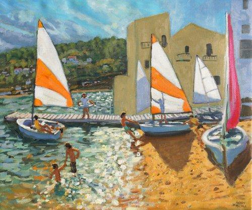 seelandschaft - Launching boats,Calella de Palafrugell,Spain - Macara, Andrew