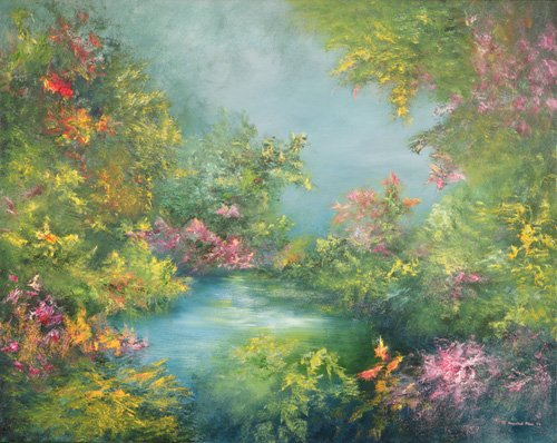 landschaften-gemaelde - Tropical Impression, 1993 - Mane, Hannibal