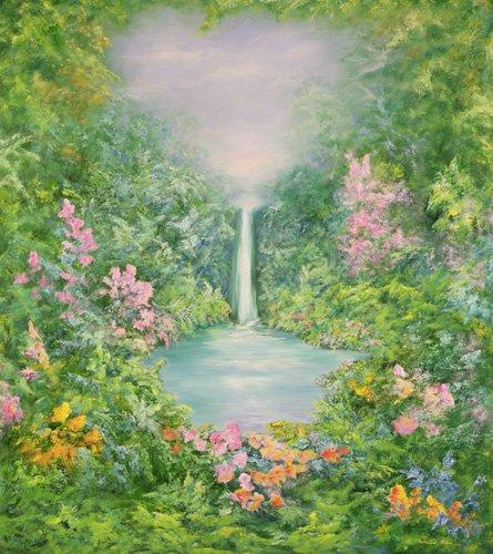 landschaften-gemaelde - The Waterfall, 1997 - Mane, Hannibal