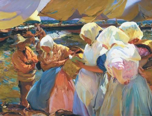 portraetgemaelde - Les femmes de Valence à la plage, 1915 - Sorolla, Joaquin