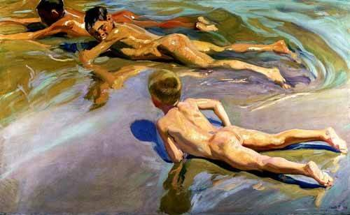 portraetgemaelde - Garçons sur la plage - Sorolla, Joaquin