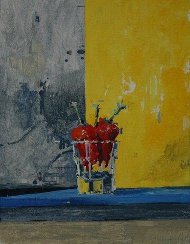 abstrakte-gemaelde - Chillies in a Glass - Millar, Charlie