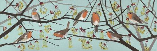 landschaften-gemaelde - Harbingers of Spring, 2015 (oil on wood panel) - Moore, Megan