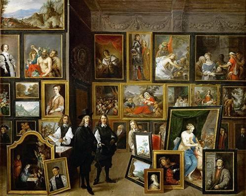 portraetgemaelde - Visite de l'archiduc Leopoldo Guillermo à Teniers - Teniers, David