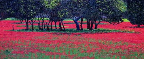 landschaften-gemaelde - Red Shock, 1999 - Neal, Trevor