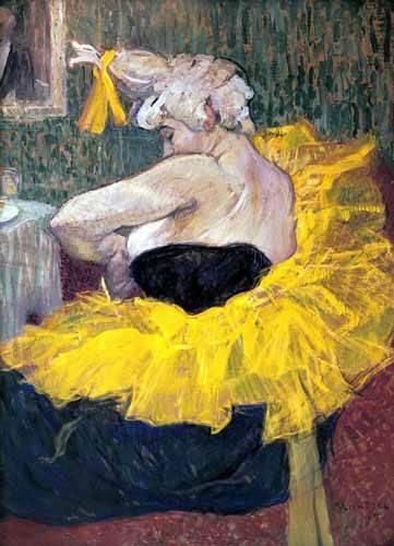portraetgemaelde - La payasa Cha-u-Kao - Toulouse-Lautrec, Henri de