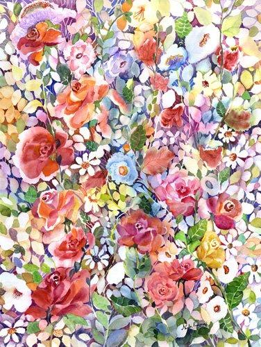 tableaux-pour-hall - Roses do Ramble - Pushparaj, Neela