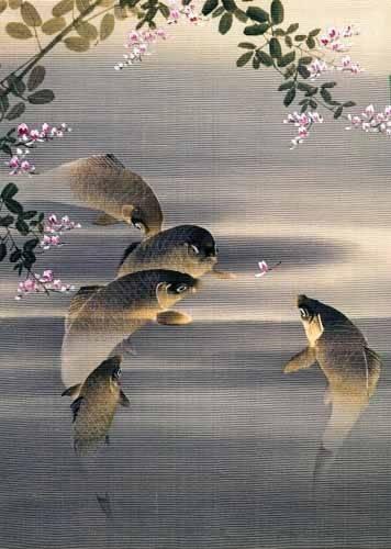 orientalische-gemaelde - Peces - _Anonym Japan