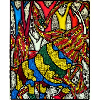 Tiermalereien - Elephant world - Oladoja, Muktair