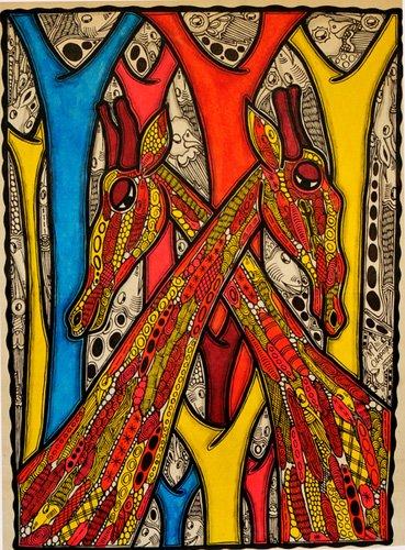 tiermalereien - Lovers, 2013 - Oladoja, Muktair