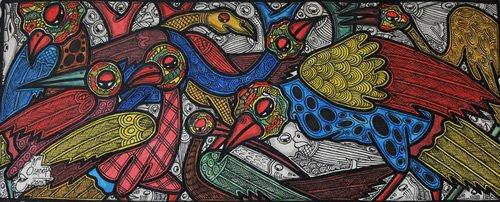 tiermalereien - Bird conference - Oladoja, Muktair
