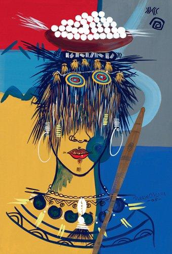 orientalische-gemaelde - African Beauty 3, 2005 - Perrin, Oglafa Ebitari