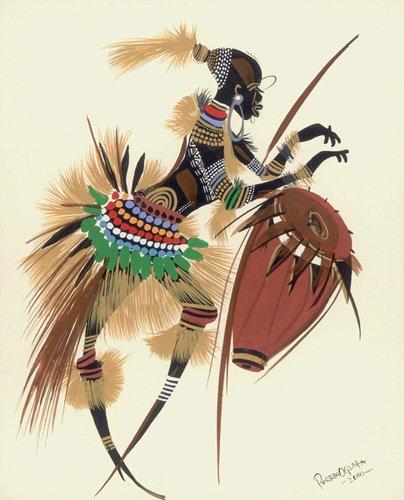 orientalische-gemaelde - Her Rhythm and Blues, 2010 - Perrin, Oglafa Ebitari