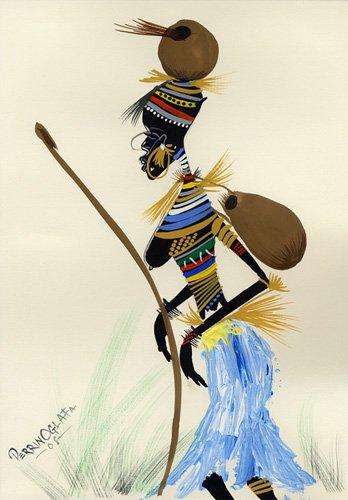 orientalische-gemaelde - Going for a hunt 1, 2008 - Perrin, Oglafa Ebitari