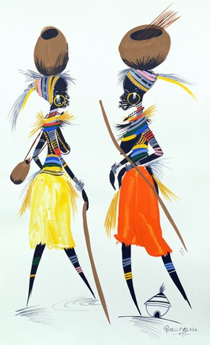 orientalische-gemaelde - Black Models (II), 2008 - Perrin, Oglafa Ebitari