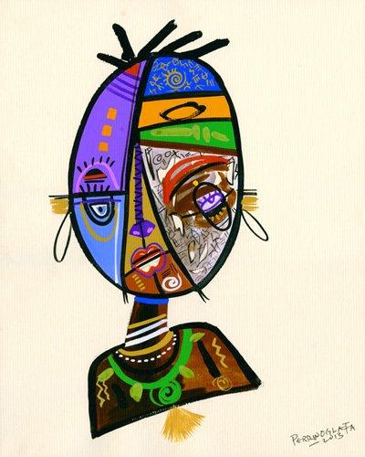 orientalische-gemaelde - Just me, 2013 - Perrin, Oglafa Ebitari
