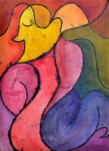 abstrakte-gemaelde - Alle meine Liebe - Pontes, Guilherme