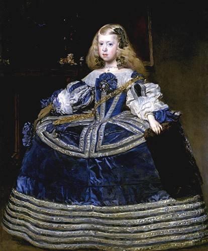 portraetgemaelde - Retrato de la Infanta Margarita, a la edad de ocho anios - Velazquez, Diego de Silva