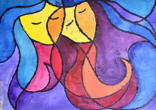 abstrakte-gemaelde - Zwei von euch - Pontes, Guilherme