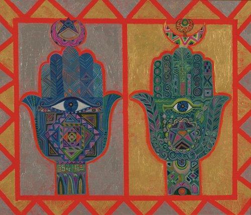 orientalische-gemaelde - Protective Hands, 1992 - Shawa, Laila