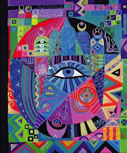 orientalische-gemaelde - Eye of Destiny, 1992 - Shawa, Laila